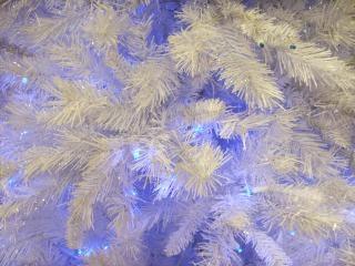 Paars en witte kerstboom