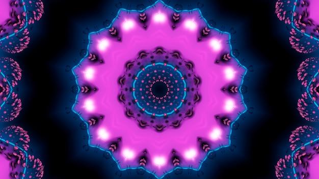 Paars fractal van de blauwe lijnen met de achtergrond seance