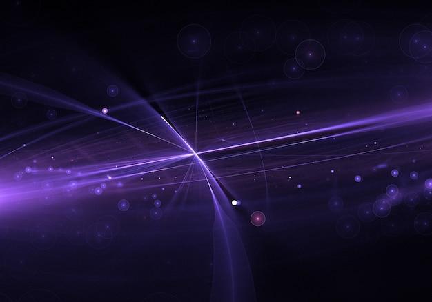 Paars lens flare effect met gloeiende deeltjes