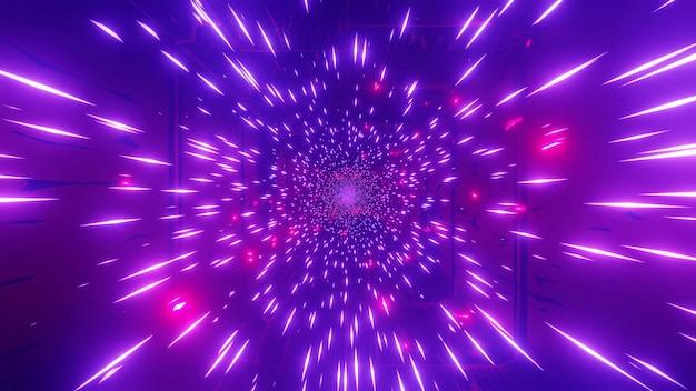 Paars rood 4 k uhd ruimte melkweg deeltjes 3d illustratie