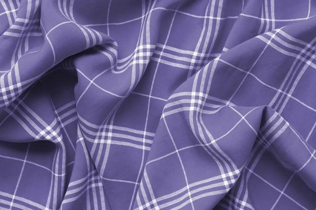 Paars violet geruit geruite kleding materiaal.