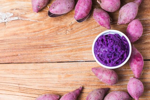 Paars zoete aardappelmos