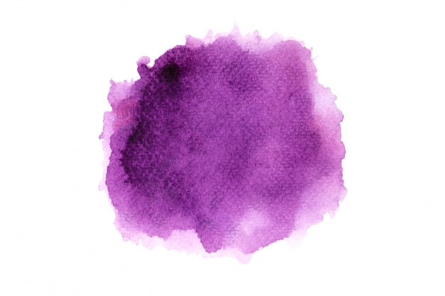 Paarse aquarel vlek penseelstreek