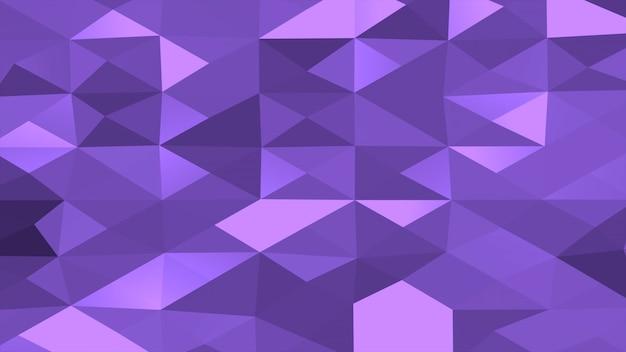 Paarse laag poly abstracte achtergrond, driehoeken geometrische vorm. elegante en luxe dynamische stijl voor bedrijven, 3d-illustratie