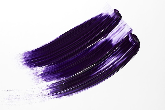 Paarse verf abstracte penseelstreek