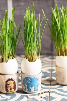 Paasdecoraties in eieren