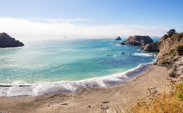 Pacific coast in californië, vs.