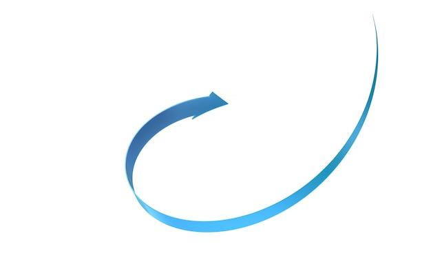 Pad gescheiden pijl object geïsoleerd op een witte achtergrond