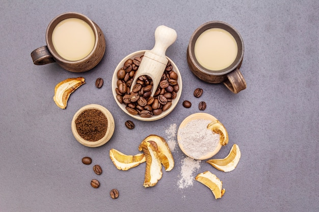 Paddestoel chaga koffie superfood trend.