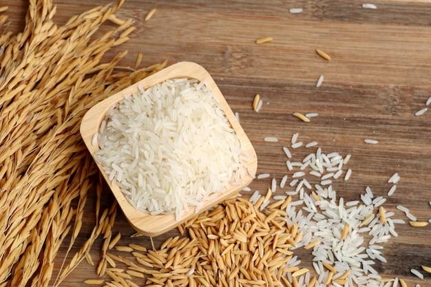 Paddy en witte rijst