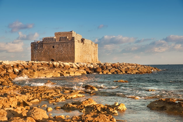 Pafos harbour castle in pathos, cyprus