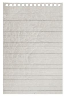 Pagina is uit het notitieboekje gehaald