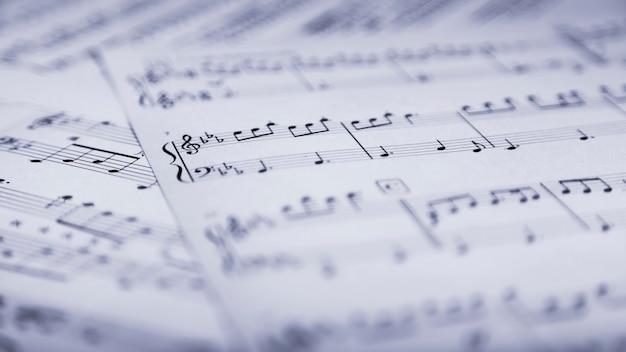 Pagina's van bladmuziek