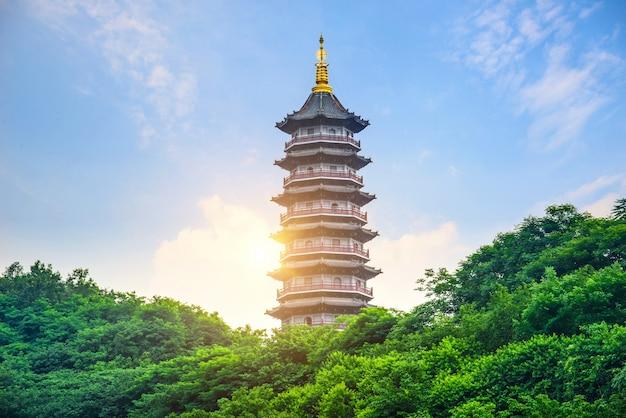 Pagode van six harmonies, chongqing, china
