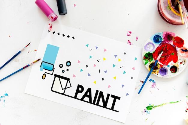 Paint art tekening patroon ontwerp acryl