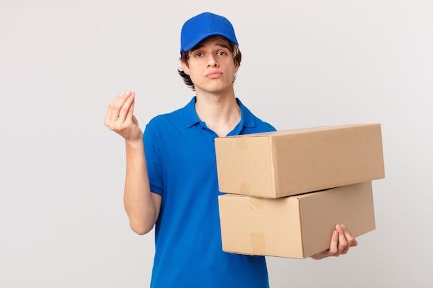Pakket bezorgt man die capice of geldgebaar maakt en zegt dat je moet betalen