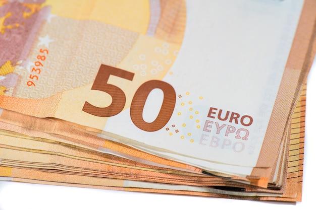 Pakket van 50 euro-bankbiljetten