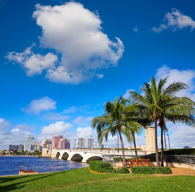 Palm beach brug van florida van het horizon de koninklijke park