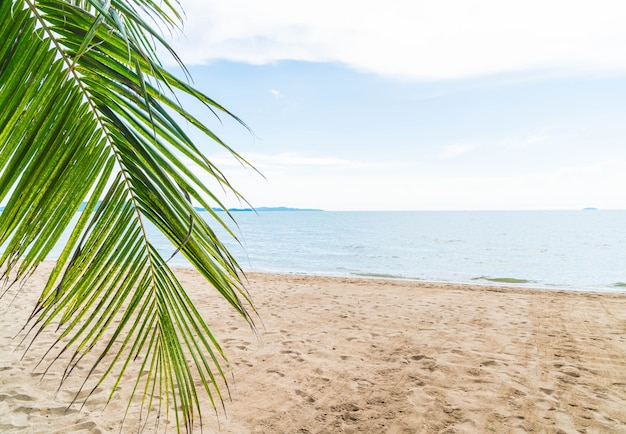 Palm en tropisch strand in pattaya in thailand