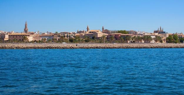 Palma de mallorca uitzicht vanaf de zee