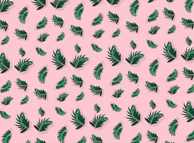 Palmbladeren naadloze patroon achtergrond