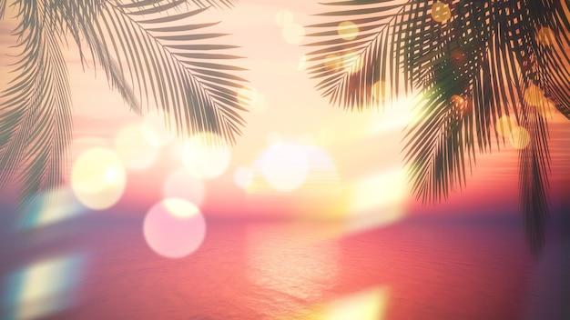 Palmboom met bokeh-effect