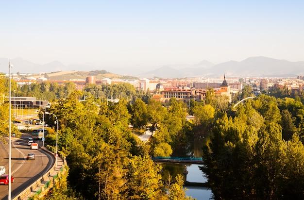 Pamplona in zonnige ochtend