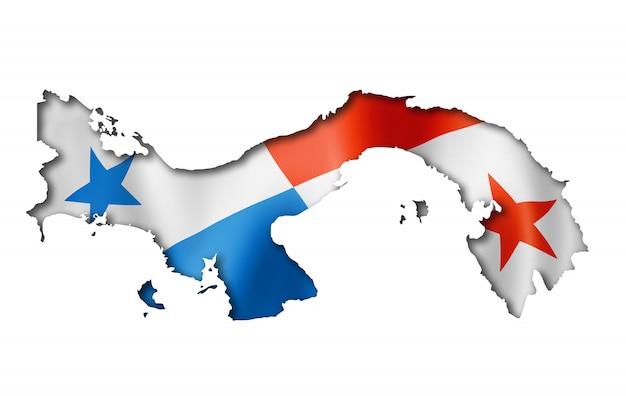 Panamese vlag kaart