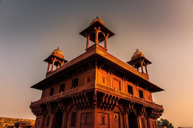 Panch mahal-gebied in fatehpur sikri in het gebied van uttar pradesh in india.