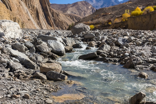 Panda khola river, lupra village, lower mustang nepal