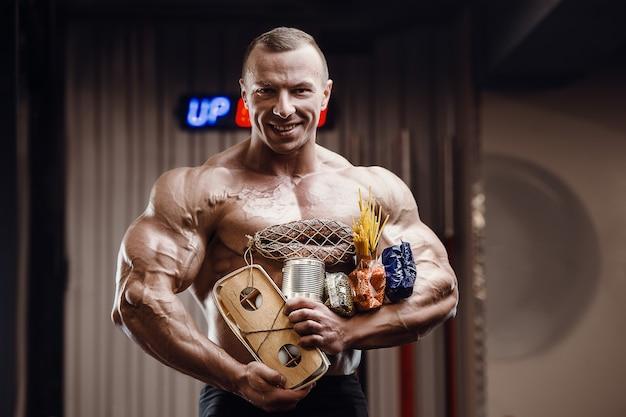 Pandemische chaos maskeren post-apocalyps bodybuilding