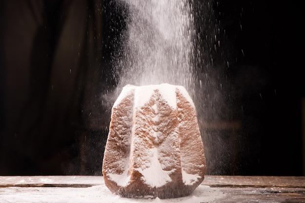Pandoro italiaanse kerstcake close-up