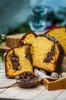 Panettone is een italiaans soort zoet brood
