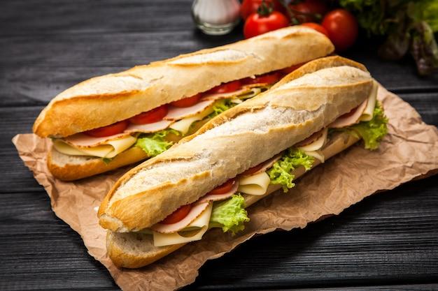 Panini gegrilde sandwich