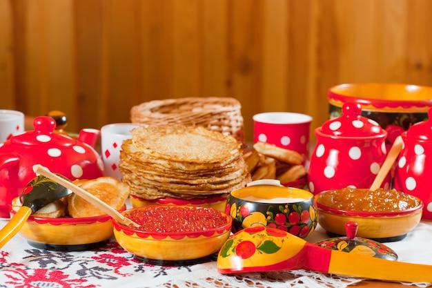 Pannenkoek met kaviaar en thee
