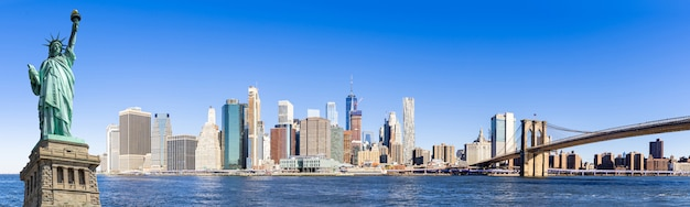 Panorama lager manhattan new york