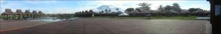 Panorama landschap bungalows