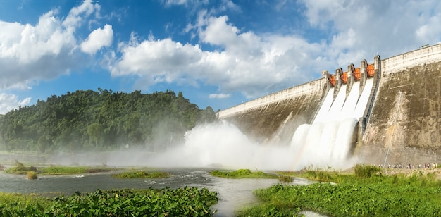 Panorama, riolering van grote dammen