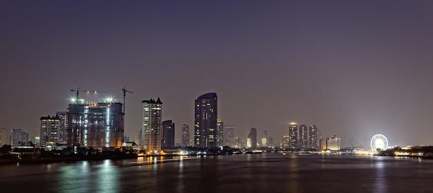 Panorama shot van bangkok, hoofdstad van thailand