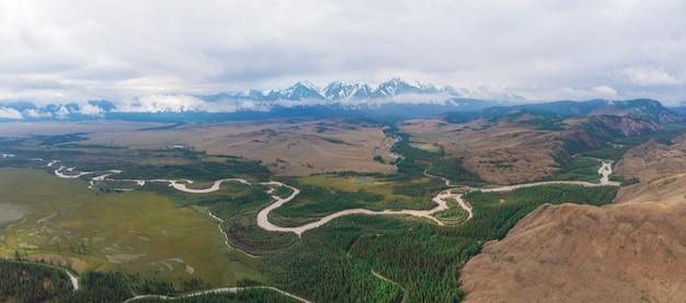Panorama van bergen