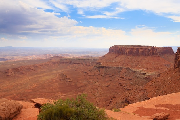 Panorama van canyonlands national park, verenigde staten.