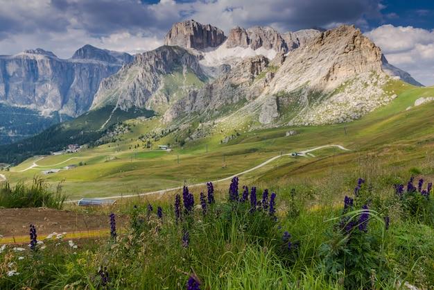 Panorama van de dolomieten