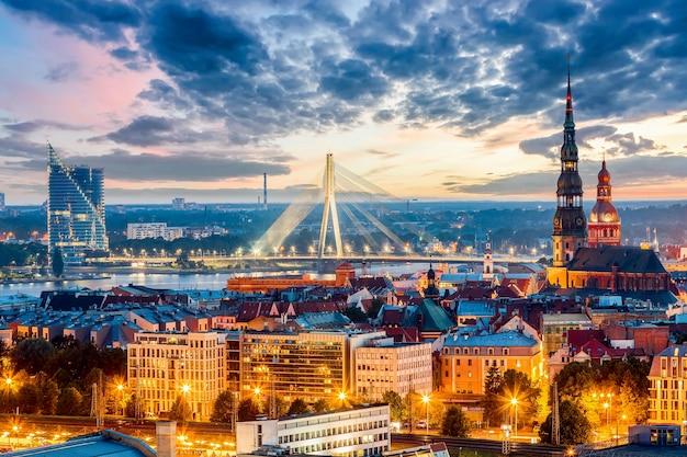 Panorama van de stad riga