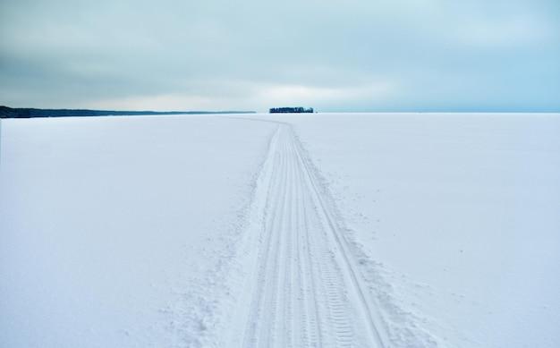 Panorama van de wolga in de winter