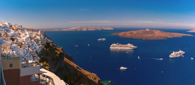 Panorama van fira, santorini, griekenland
