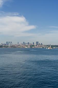 Panorama van het europese deel van de stad istanbul
