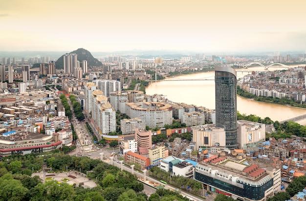 Panorama van liuzhou, guangxi, china
