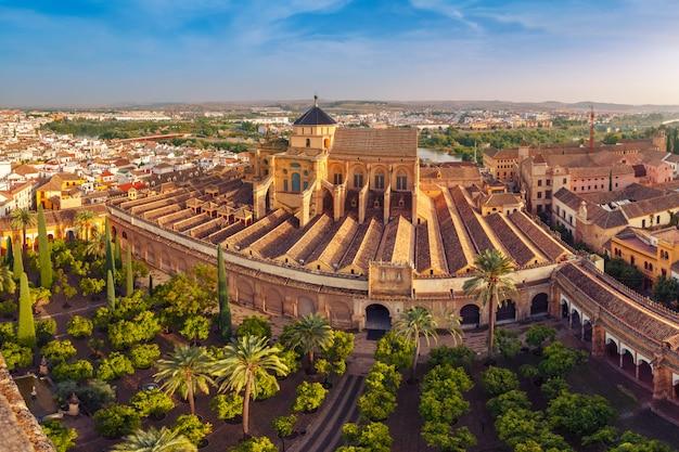 Panorama van mezquita in cordoba, spanje