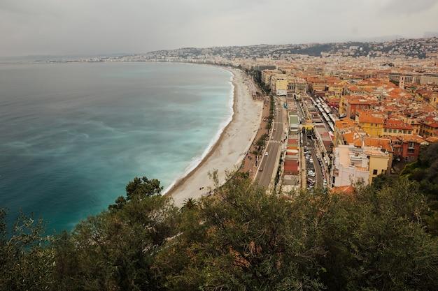 Panorama van nice, cote d'azur, frankrijk