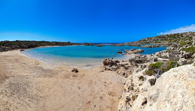 Panorama van nice resort op kreta